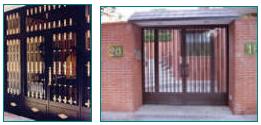 Puertas para Comunidades en Aluminio, Inox. y Forja